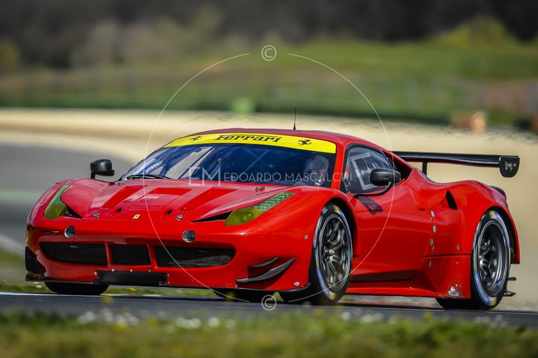Ferrari 458 GTE, Test, Autodromo di Vallelunga